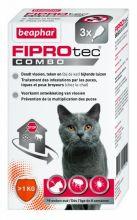 Beaphar Fiprotec Combo Cat - Anti vlooien en tekenmiddel - 3 pip >1kg