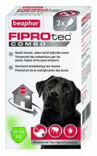 Beaphar Fiprotec Combo Dog 3 pip - Anti vlooien en tekenmiddel - 20-40kg