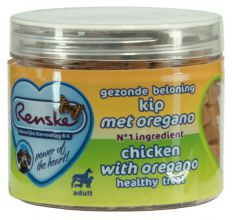 Renske Gezonde Beloning Hartjes 100 g - Hondensnacks - Kip&Oregano
