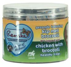Renske Gezonde Beloning Hartjes 100 g - Hondensnacks - Kip&Broccoli