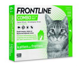 Frontline Combo Spot On Kat - Anti vlooien en tekenmiddel - 6 pip