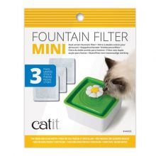 Catit Filters Drinkfontein Mini - Kattendrinkbak - 15x12x2.5 cm Wit 3 stuks