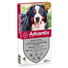 Advantix Spot On 600 6 ml - Anti vlooien en tekenmiddel - 4 pip 40-60 Kg