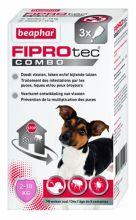 Beaphar Fiprotec Combo Dog 3 pip - Anti vlooien en tekenmiddel - 2-10kg