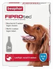 Beaphar Fiprotec Dog 4 pip - Anti vlooien en tekenmiddel - 10-20kg