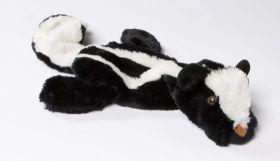 Speeltje Skinny Das Met Piep - Hondenspeelgoed - 52 cm Zwart Wit