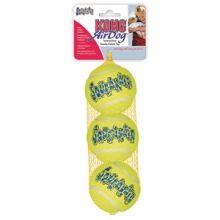 KONG Air Squeakair Tennisbal Geel met Piep - 3 stuks Medium - 6,5 cm