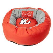Simon's Cat - Cat Donut Bed Red 46 cm x 17 cm