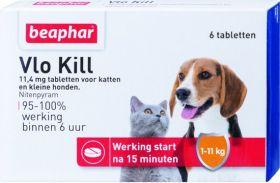 Beaphar Vlo Kill Hond En Kat Tot 11 Kg - Anti vlooienmiddel - 6 tab